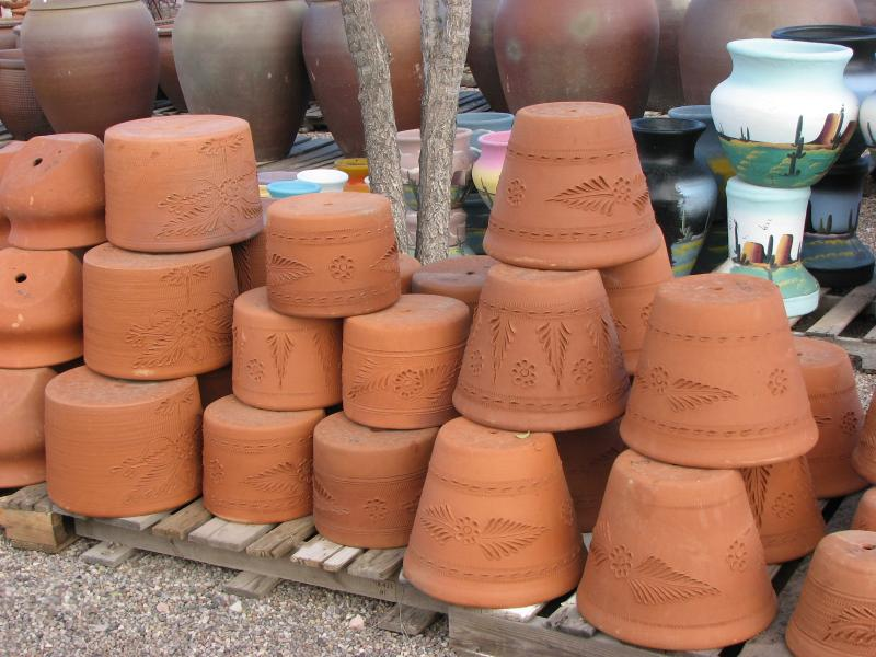 mexican clay pots - terracotta