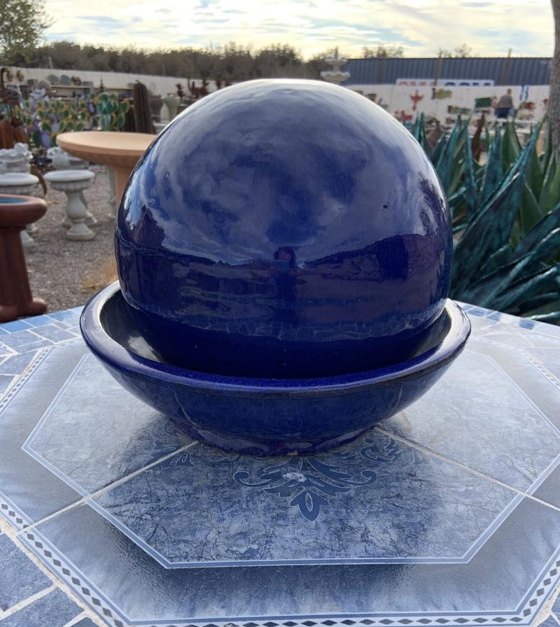 tabletop fountain-blue