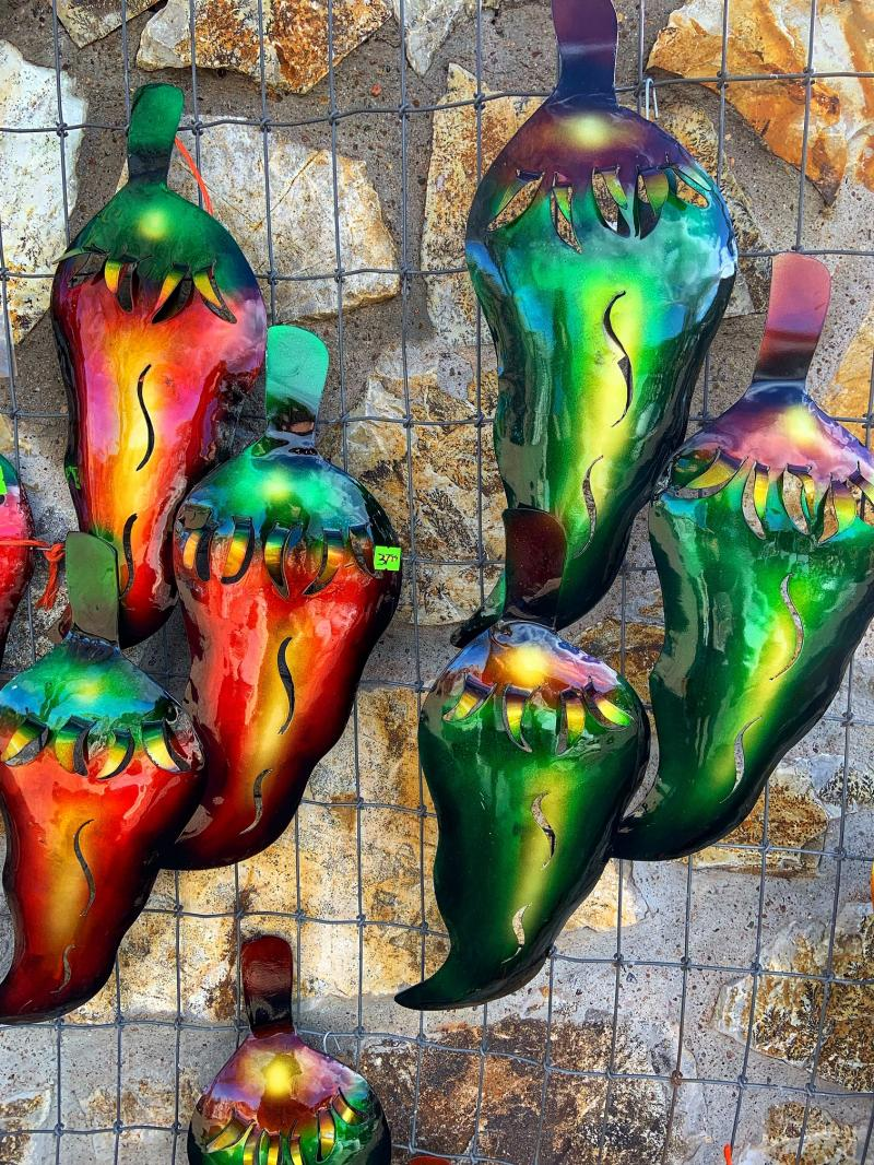 metal yard art chiles