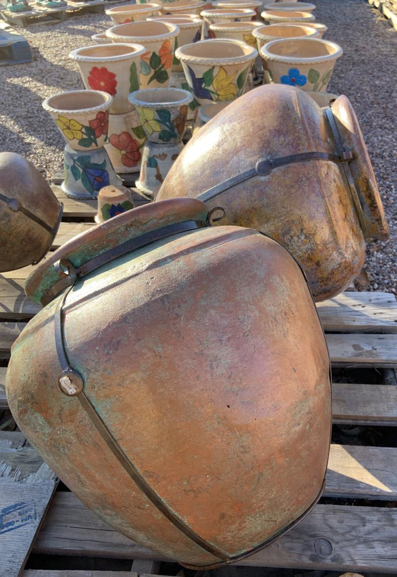 mexican clay pots with steel