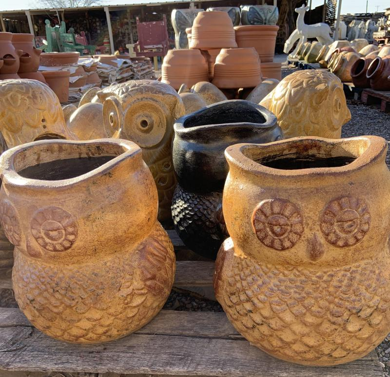 mexican clay - owls