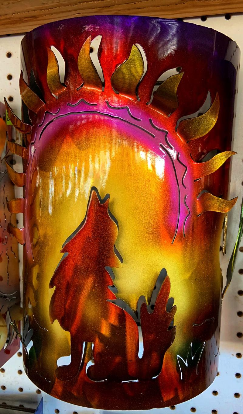 metal sconces - coyote