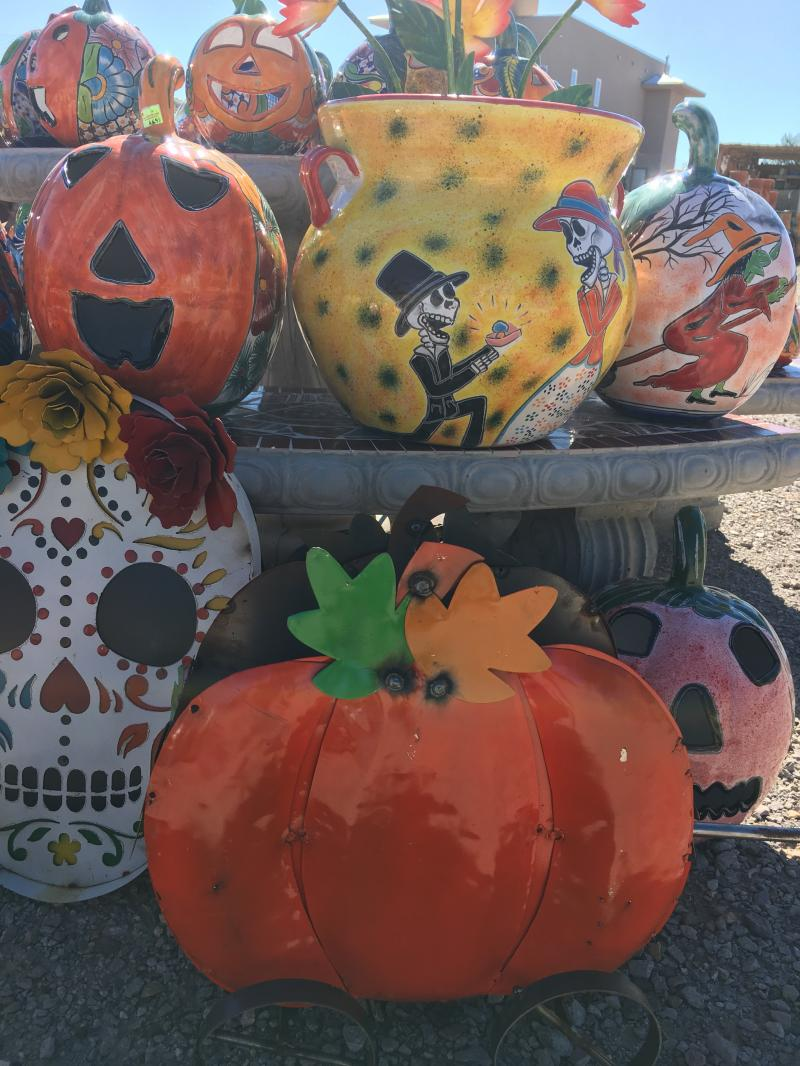 talavera jack-o-lanterns and pottery