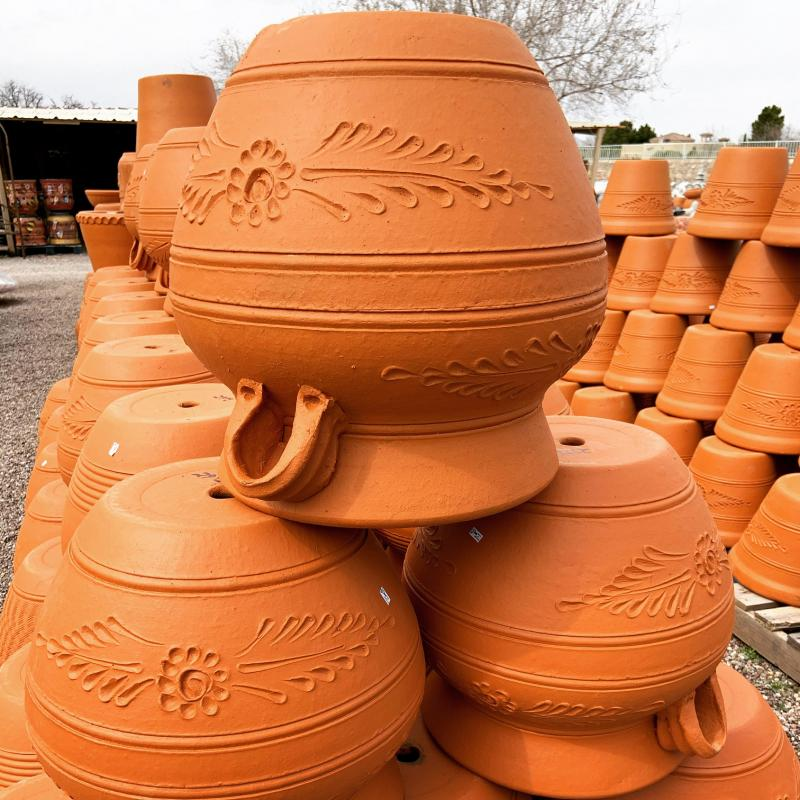 Mexican terracotta clay pots