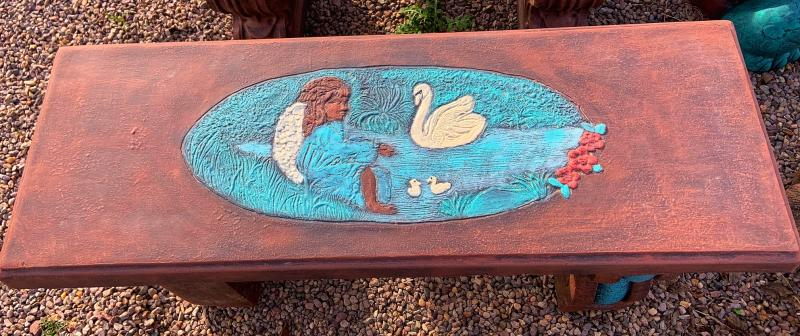 angel swan bench