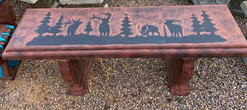 forest deer bench