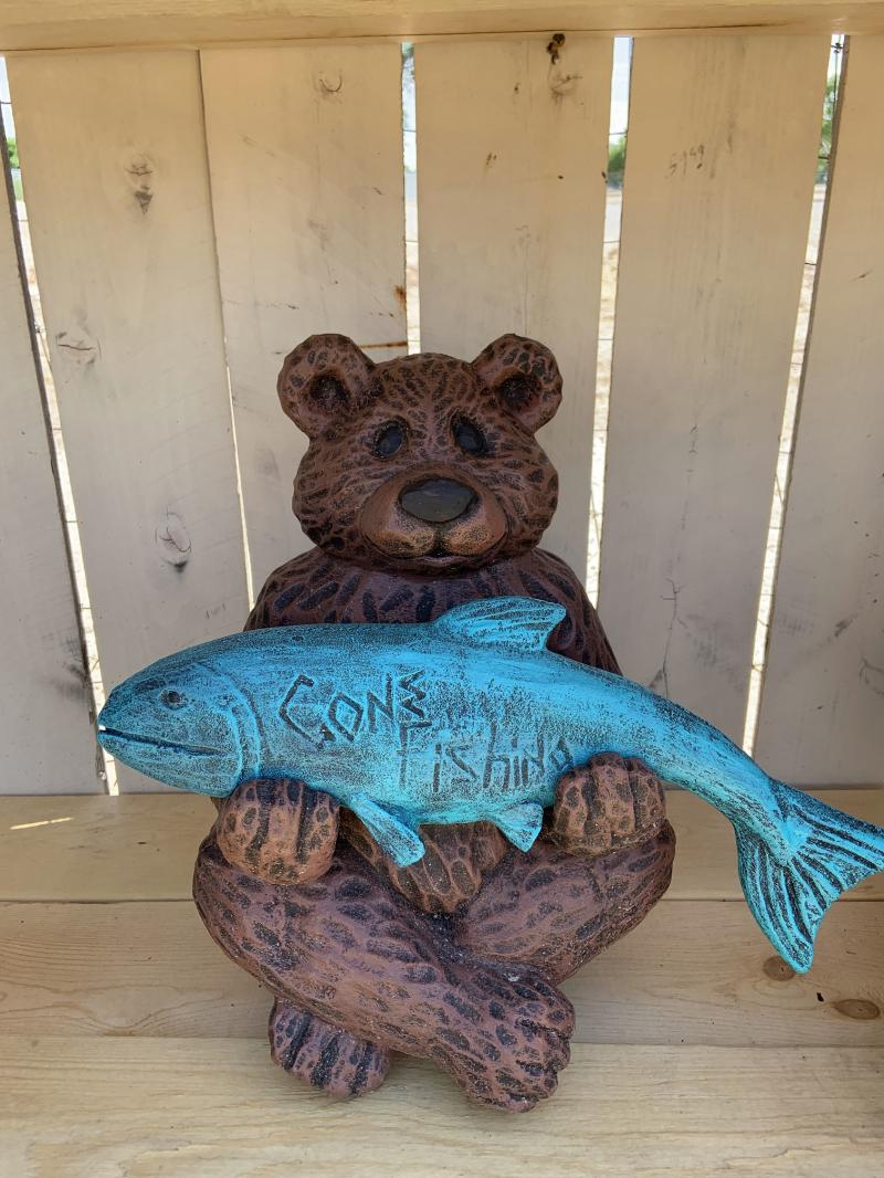 gone fishing bear
