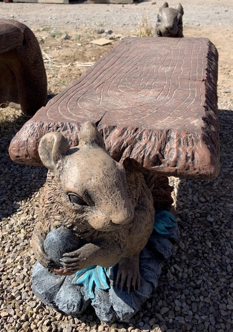 large squirrel bench