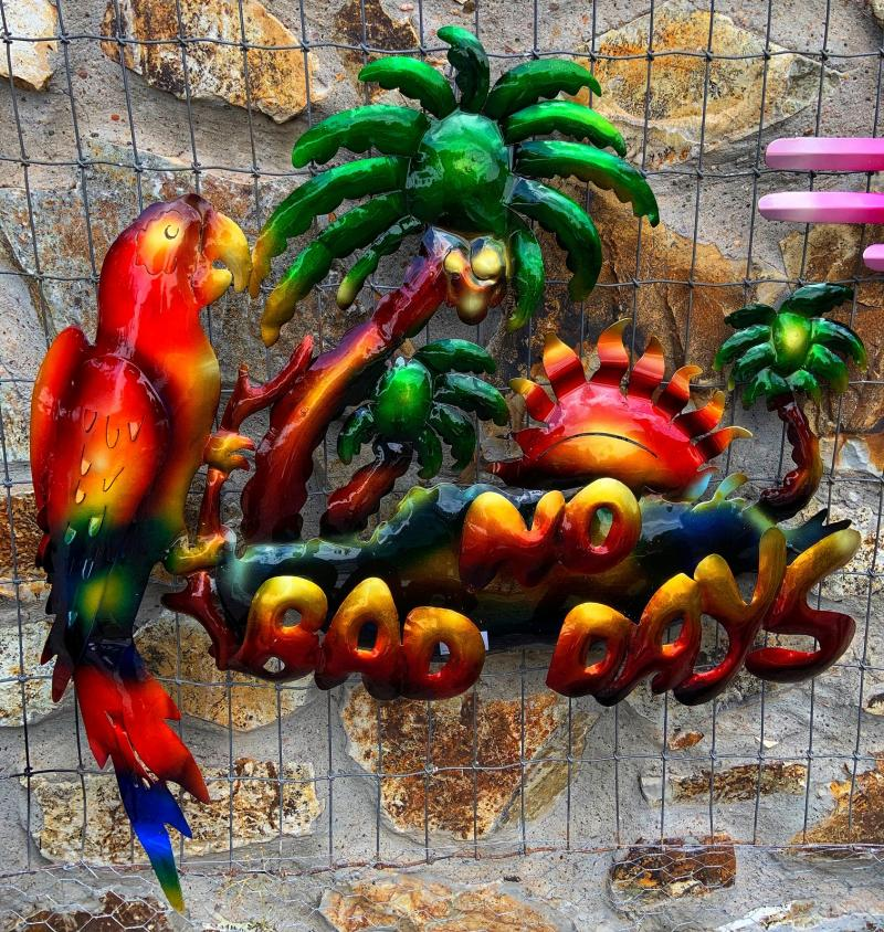 metal yart art parrot no bad days