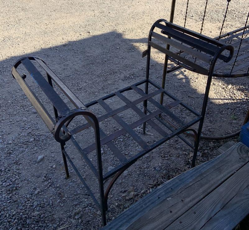 metal scroll bench