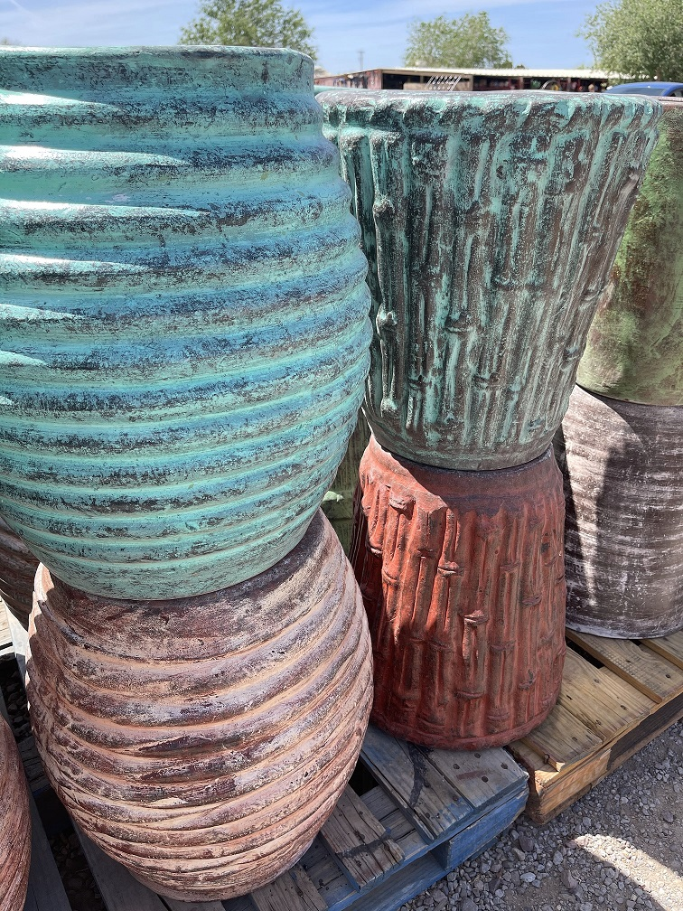 mexican barrel clay pots