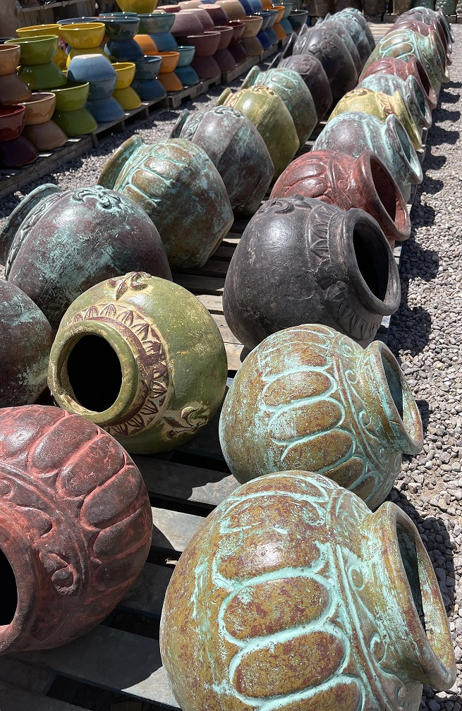 mexican clay side pots