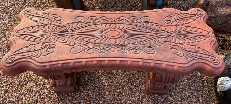 ornate bench