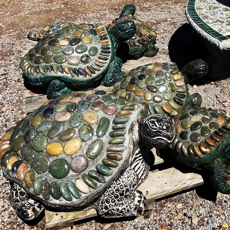 River rock turtles