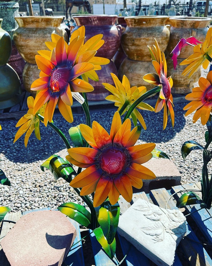 sunflowers metal art