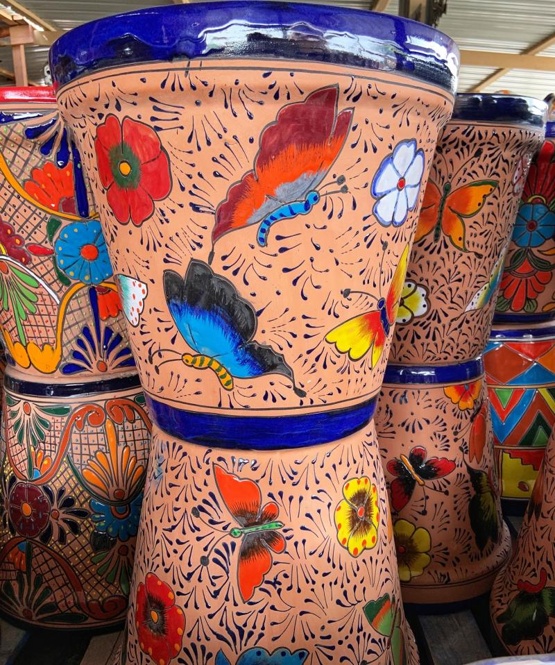 Talavera butterfly planters