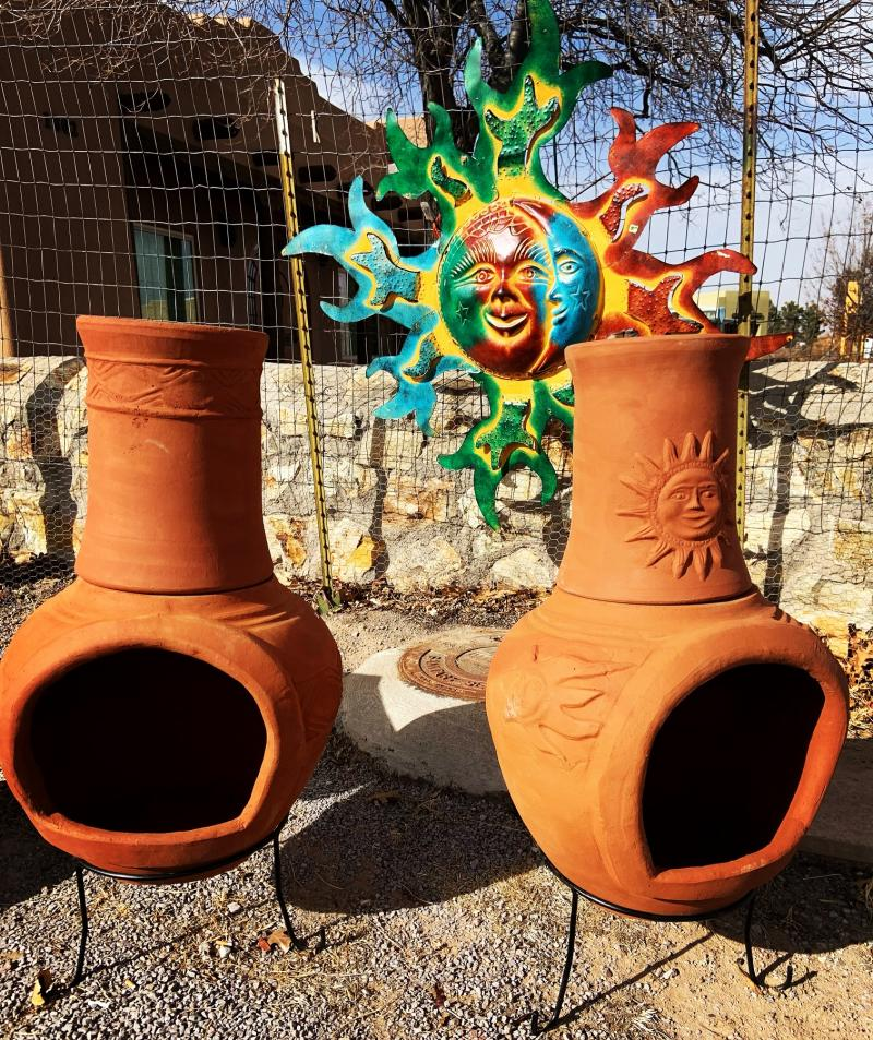 terracotta chimeneas