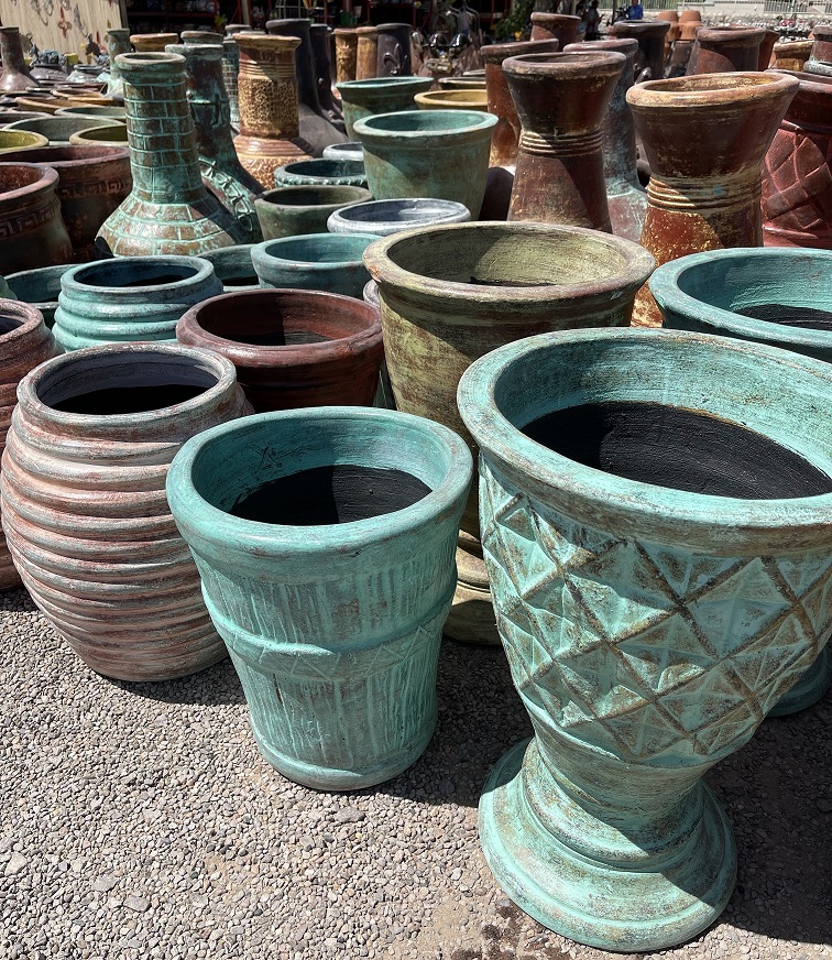 various mexican clay pots