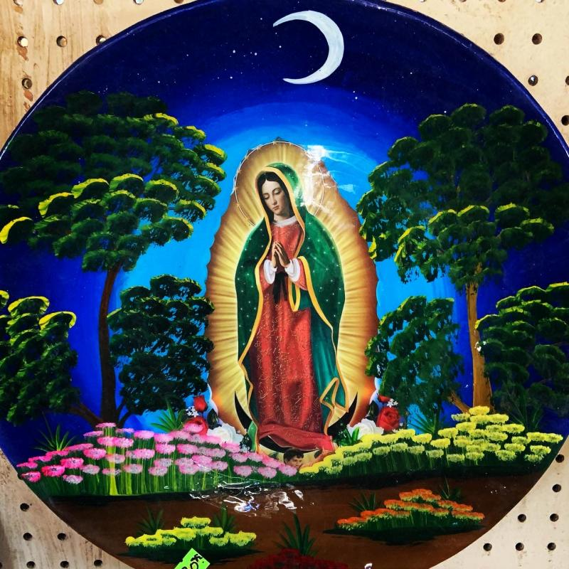 virgin of guadalupe decorative plate